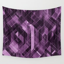 Abstract violet pattern Wall Tapestry
