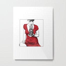 asc 165 - Le regard inversé (d'après zzitlali) Metal Print