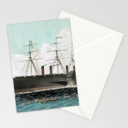 Vintage SS Great Eastern Steamboat Painting (1858) Stationery Cards