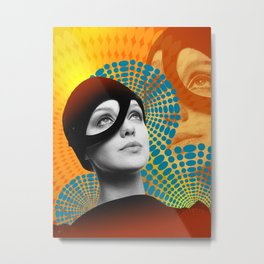 Supermodel Donna 2 - Supermodels of the Sixties Series Metal Print