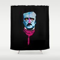 poe Shower Curtains featuring Poe by Alvaro Tapia Hidalgo