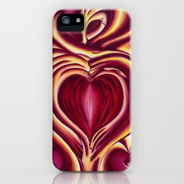4 of hearts iPhone Case