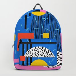 Crank - 80s retro throwback minimal abstract painting memphis style trendy vibes all day Backpack