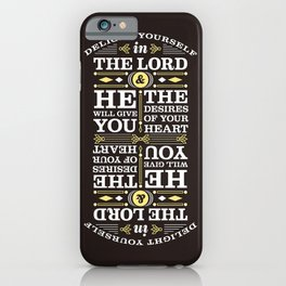 Psalm 37:4 iPhone Case