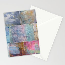 Collage monoprints Stationery Cards