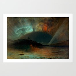 Aurora Borealis by Frederic Edwin Church Art Print