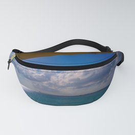 Seaside Under Umbrellas Fanny Pack