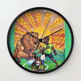 Lion & Youth / 41 Fleet St  Wall Clock