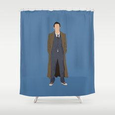 David Tennant as Dr Who Shower Curtain