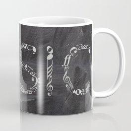 Music typo on chalkboard Coffee Mug