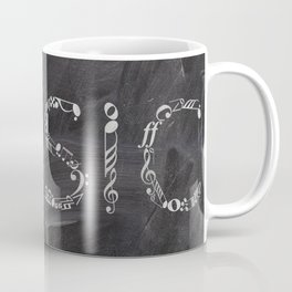 Music typo on chalkboard Coffee Mug