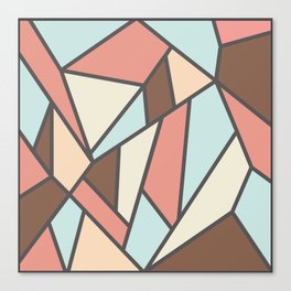 Geometric Colour Pattern V2 Canvas Print