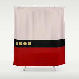 Picard -Minimalist Star Trek TNG The Next Generation  Captain Jean Luc Picard startrek Trektangles Shower Curtain