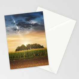 Corn in the field at sunset Stationery Cards