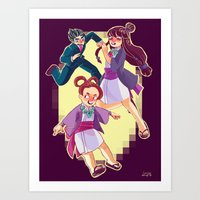 ace attorney Art Prints featuring ace attorney by jununy