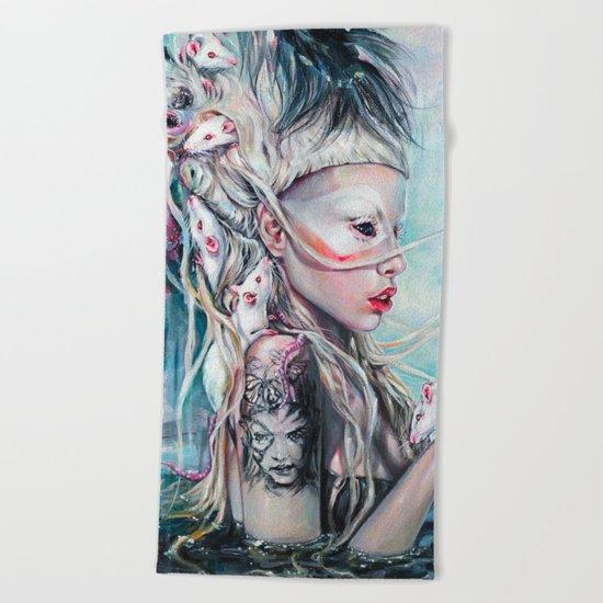 Yolandi The Rat Mistress  Beach Towel