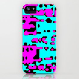 jitter, violet and blue 7 iPhone Case