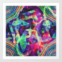 carnival Art Prints featuring Carnival by Truly Juel