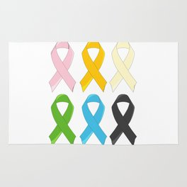SIx Awareness Ribbons Rug