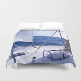 Sailing Winds - Sailing the Caribbean Duvet Cover