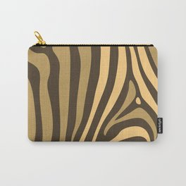 Brown Zebra Stripes Carry-All Pouch