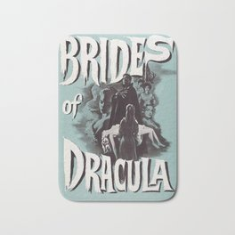 Brides of Dracula, vintage horror movie poster Bath Mat
