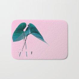 Pink Plant Bath Mat