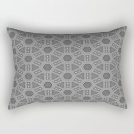 Grey Geometric Pattern Rectangular Pillow