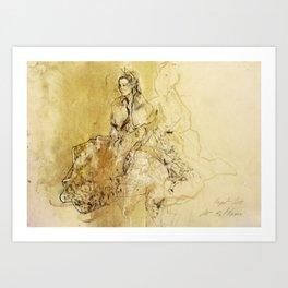 Hommage à Botticelli II Art Print