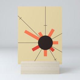 paper sun || straw Mini Art Print
