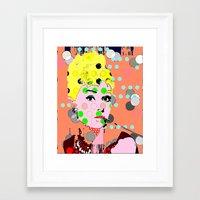 hepburn Framed Art Prints featuring Hepburn by Ricky Sencion