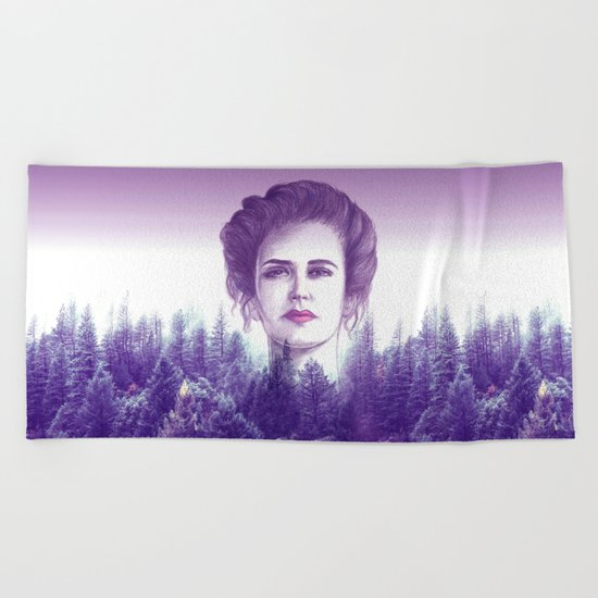 Eva Green/vanessa Beach Towel