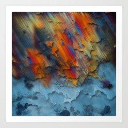 Diagonal Rainbow Redux Art Print