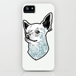 Tattooed Chihuahua iPhone Case