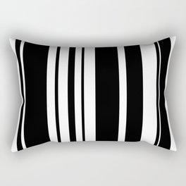 Black and white stripes 2 Rectangular Pillow