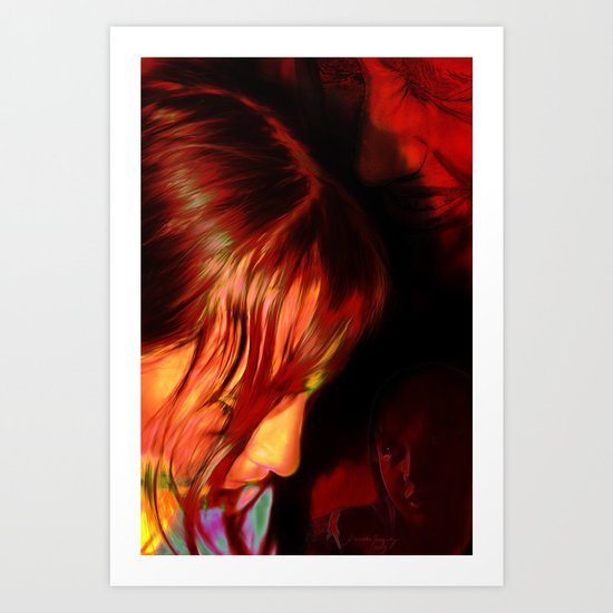3 Melissas Art Print