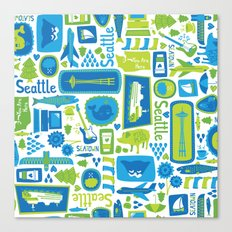 Sights of Seattle Canvas Print