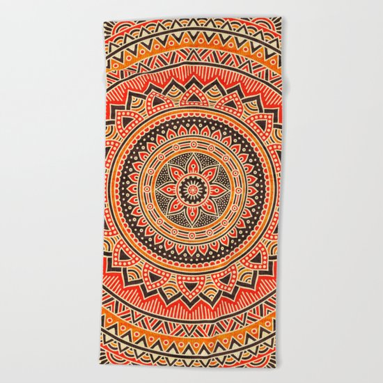 Hippie Mandala 12 Beach Towel