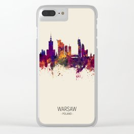 Warsaw Poland Skyline Clear iPhone Case