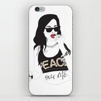 rihanna iPhone & iPod Skins featuring RIHANNA by Adam Churcher