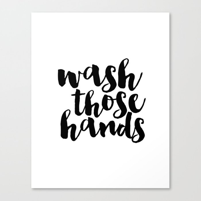 Bathroom Art Sign Printable Hand Lettered Nursery Decor Kids Wall Print Canvas