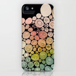 circles, black iPhone Case