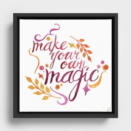 Make Your Own Magic Framed Canvas