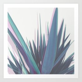 Holographic Leaves Art Print