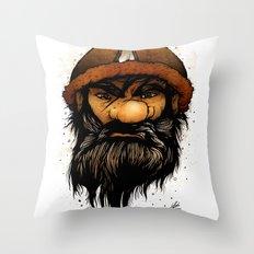 Warrior (Color Version) Throw Pillow