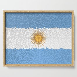 Extruded Flag of Argentina Serving Tray