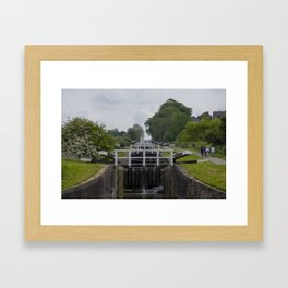 Looking up Caen Hill Framed Art Print