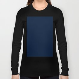 dark navy blue solid coordinate Long Sleeve T-shirt