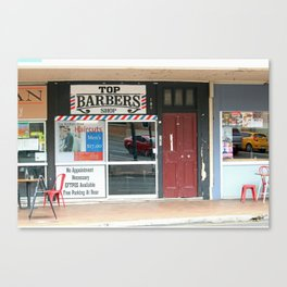 Barber Shop Canvas Print