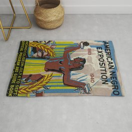 Vintage African American Negro Exposition Poster Advertisement Rug